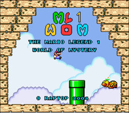 Mario Legend 1, The - World of Mystery Demo (SMW1 Hack)