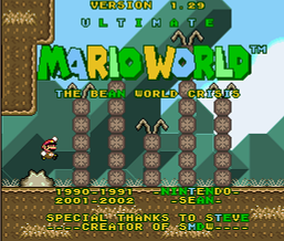 Ultimate Mario World Bean World Crisis 1.29 (SMW1 Hack)