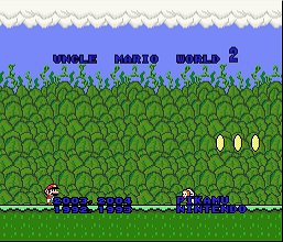 Uncle Mario World 2 Demo Version E (SMW1 Hack)